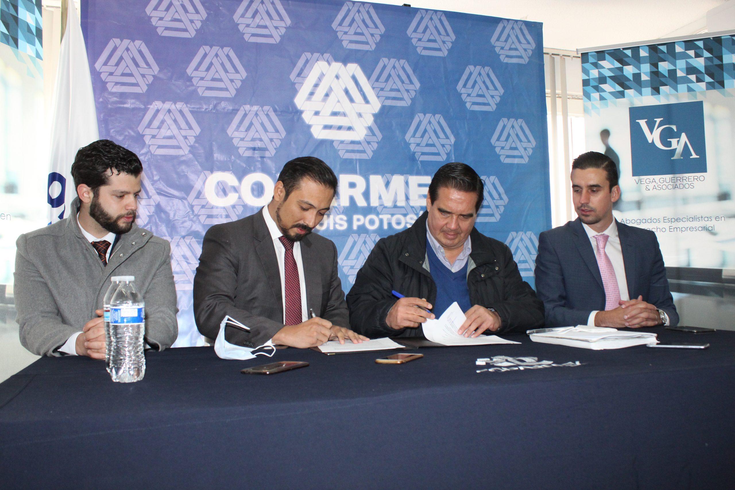 VGA se une con COPARMEX SLP para capacitar jurídicamente al sector empresarial
